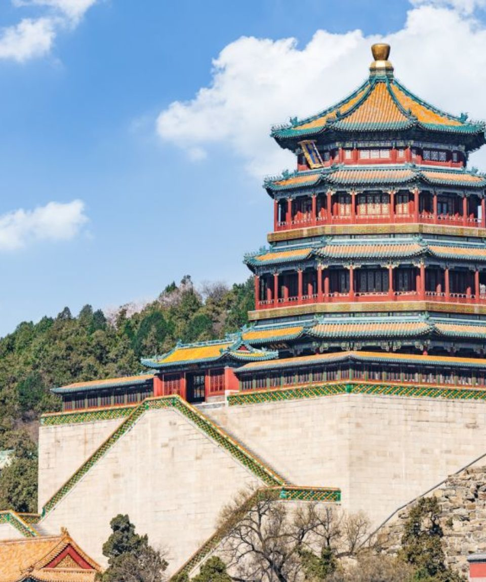 The Summer Palace landscape in Beijing,Chinese imperial garden of the Qing Dynasty