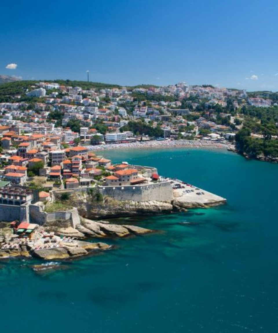 Aerial,View,Of,The,Old,City,Of,Ulcinj